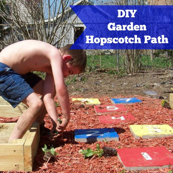 DIY Garden Hopscotch Path