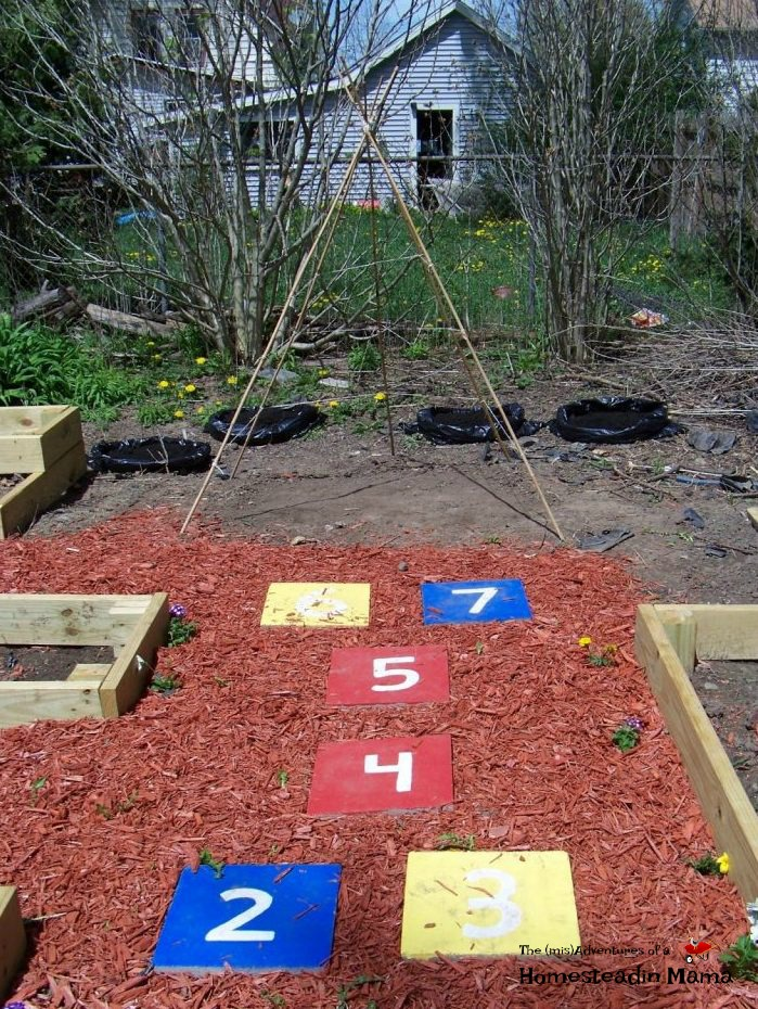 garden hopscotch path