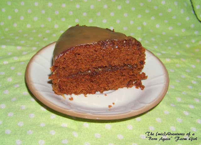 Gingerbread Spice Cake with Caramel Sauce