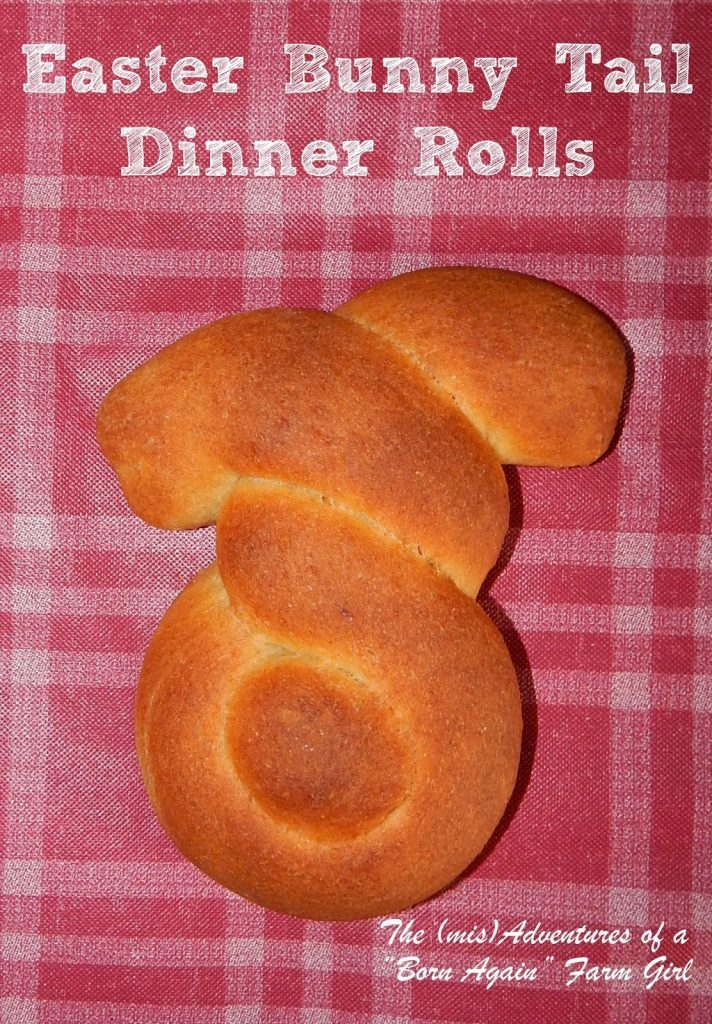 Easter bunny tail rolls