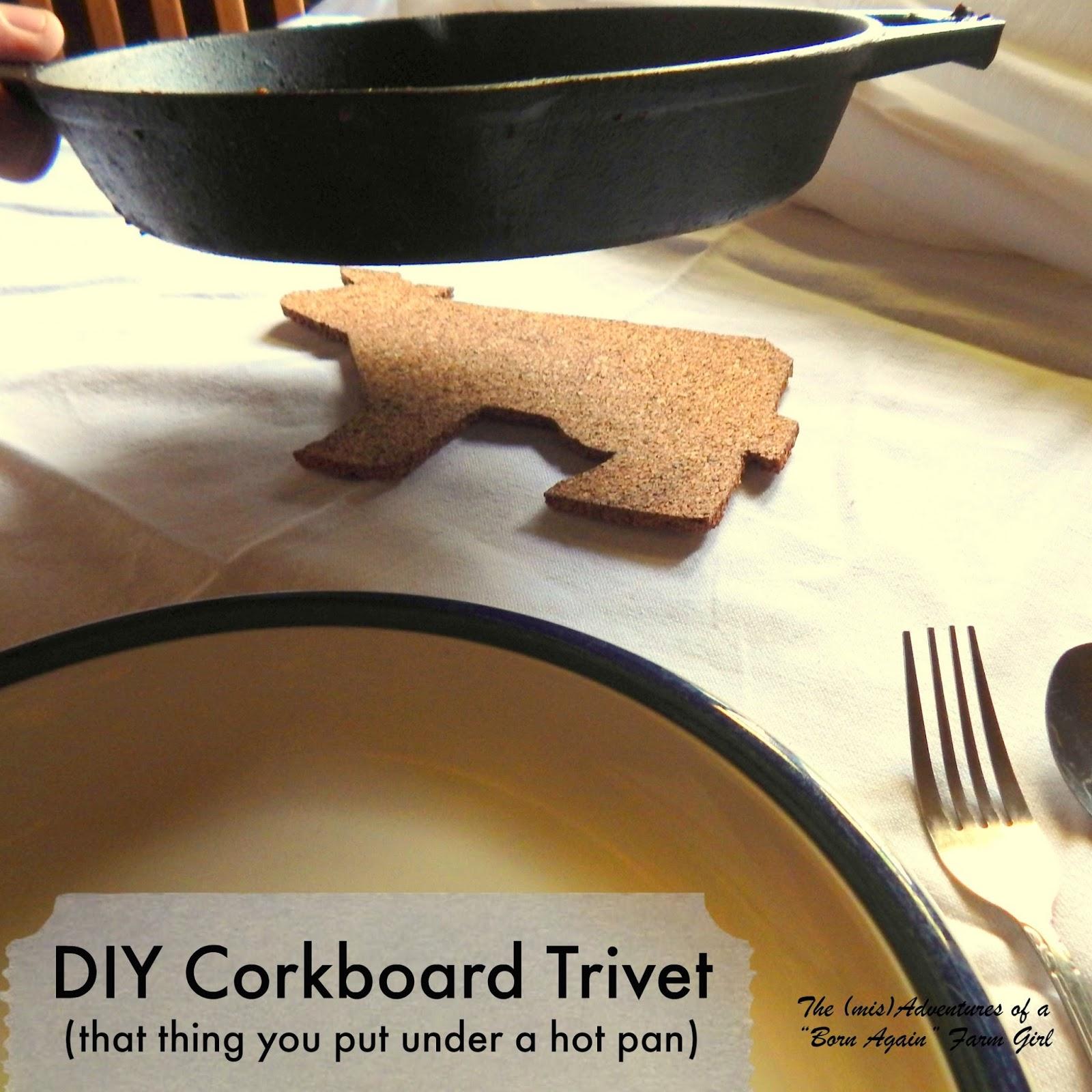 DIY Corkboard Trivet