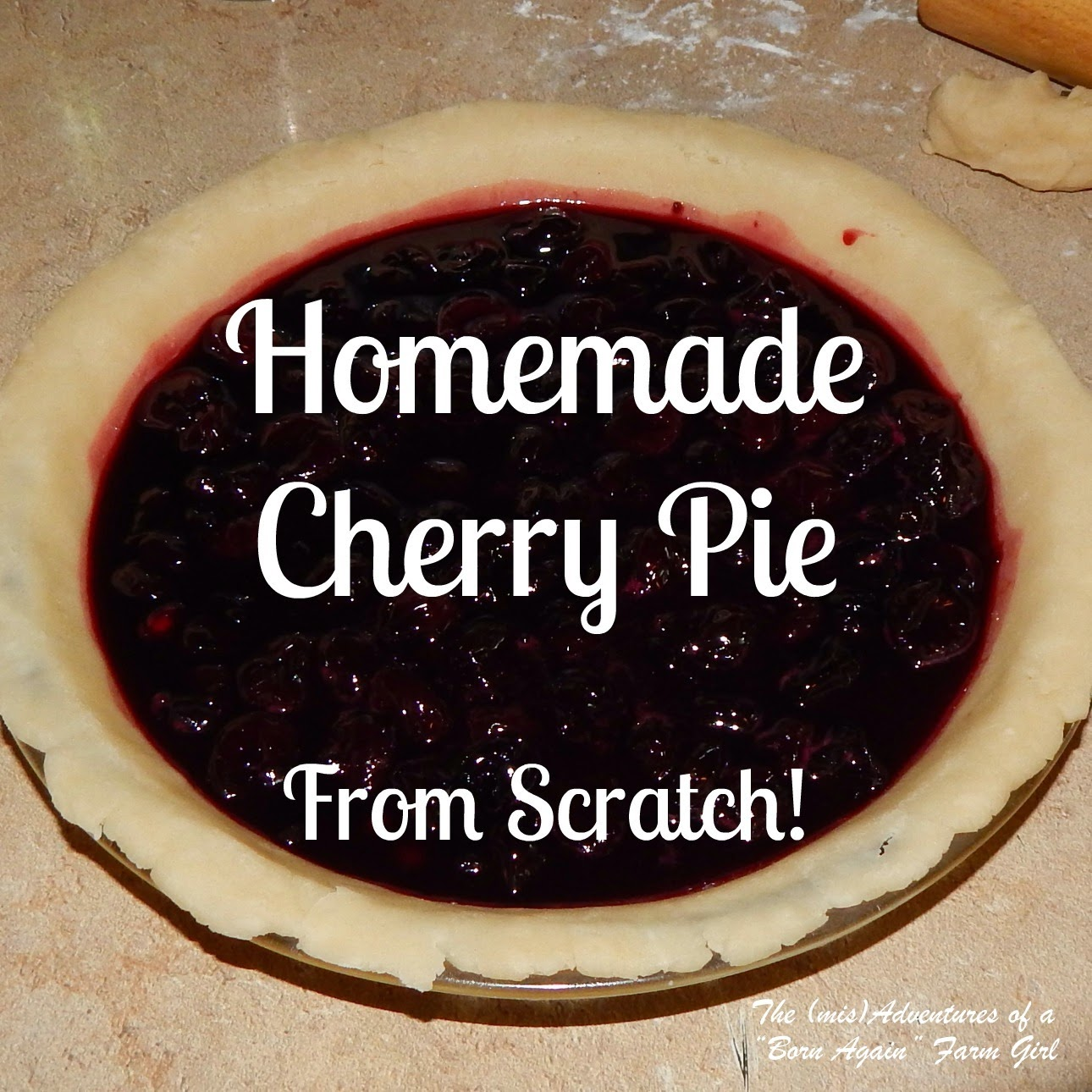 Homemade Cherry Pie From Scratch