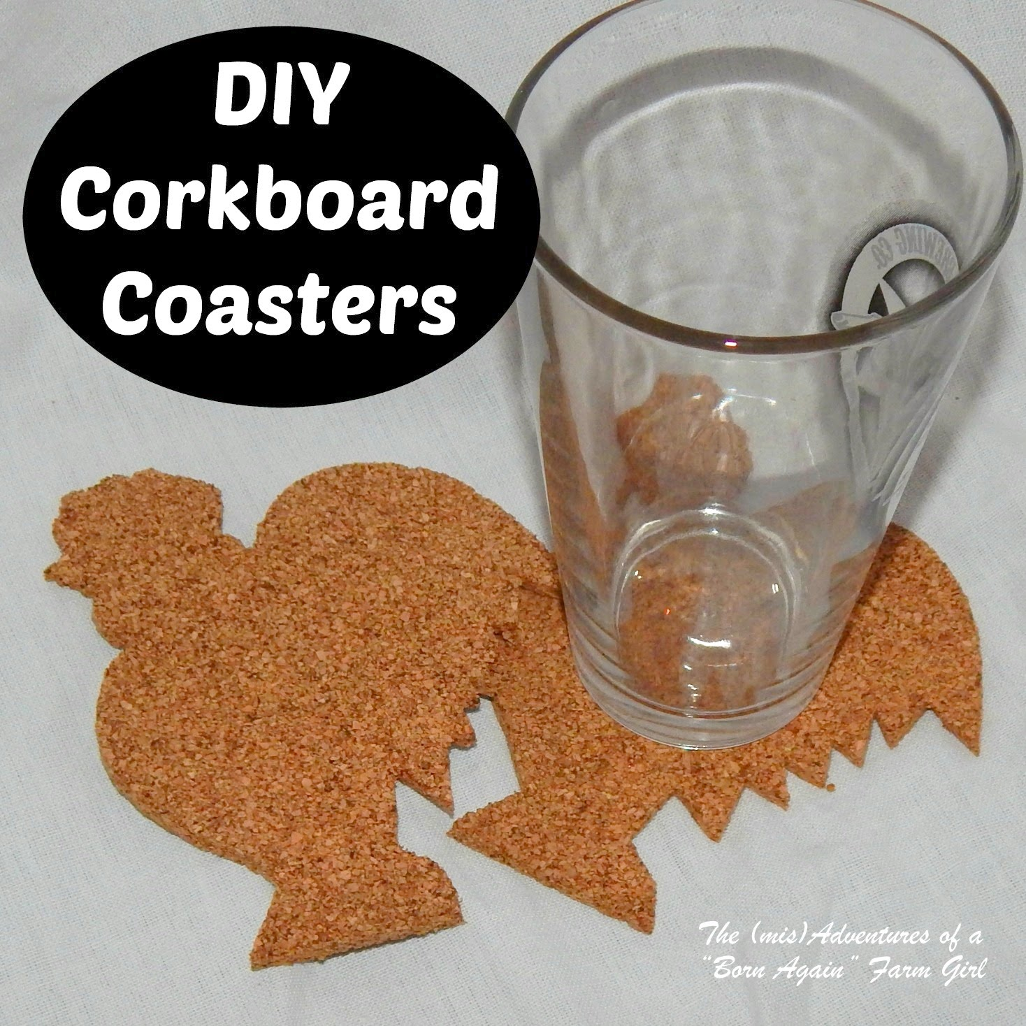 DIY Corkboard Coasters