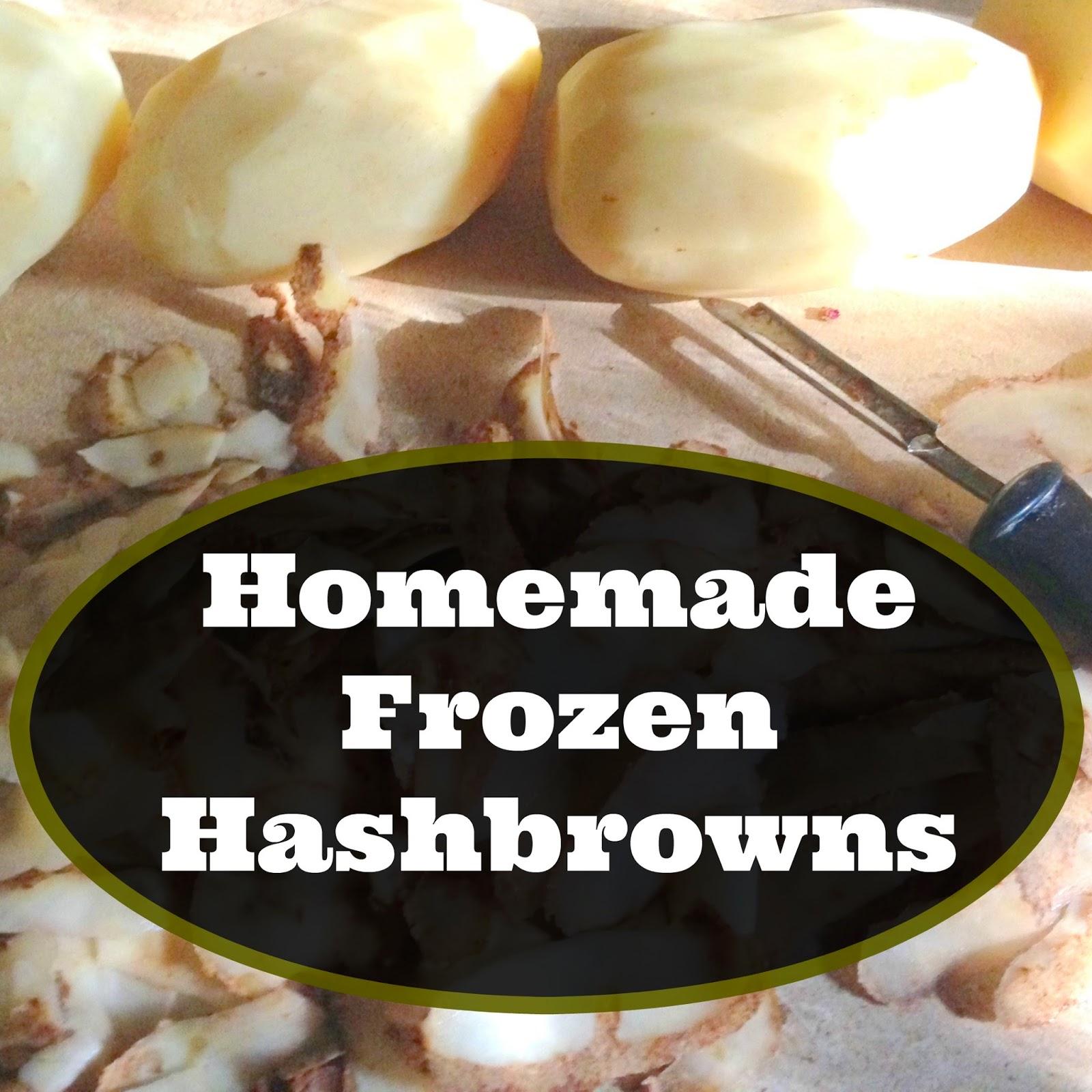 Homemade Frozen Hashbrowns