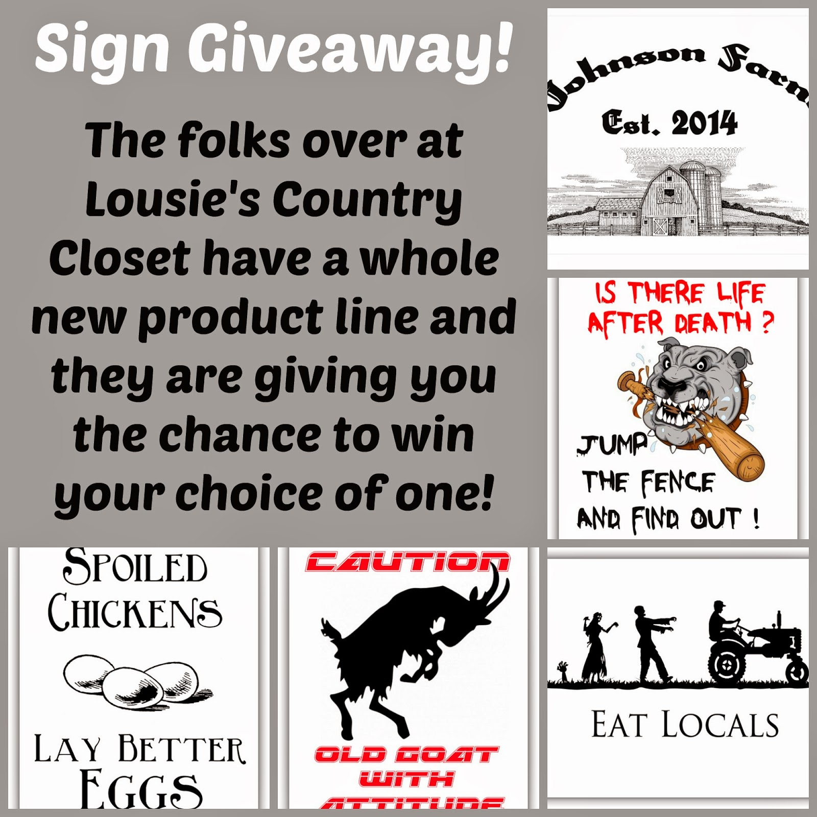Sign Giveaway from Louise's Country Closet