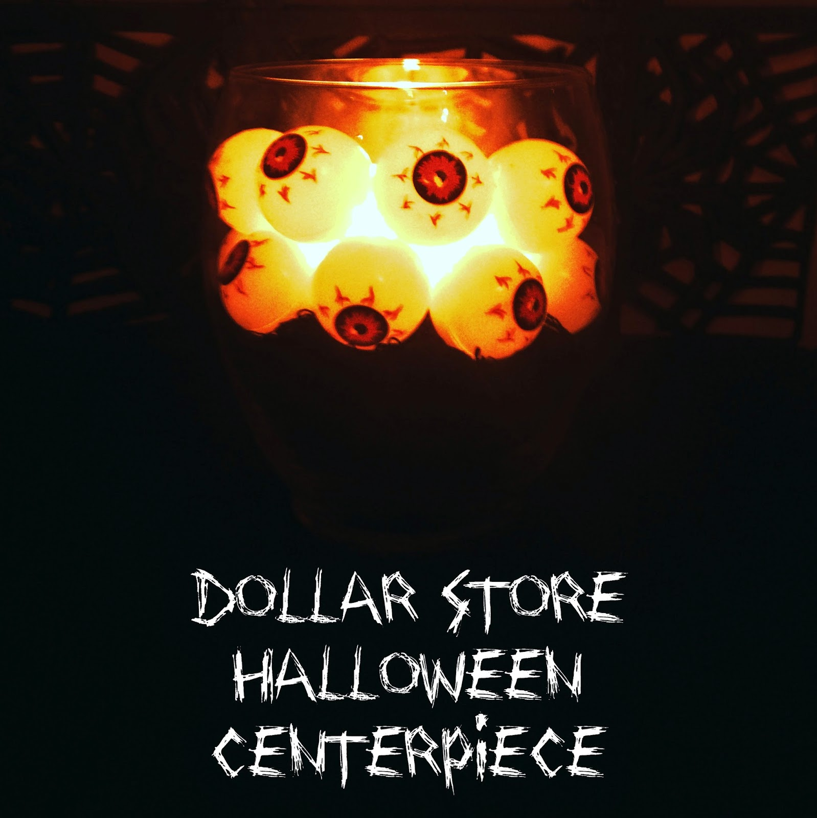 Dollar Store Halloween Centerpiece