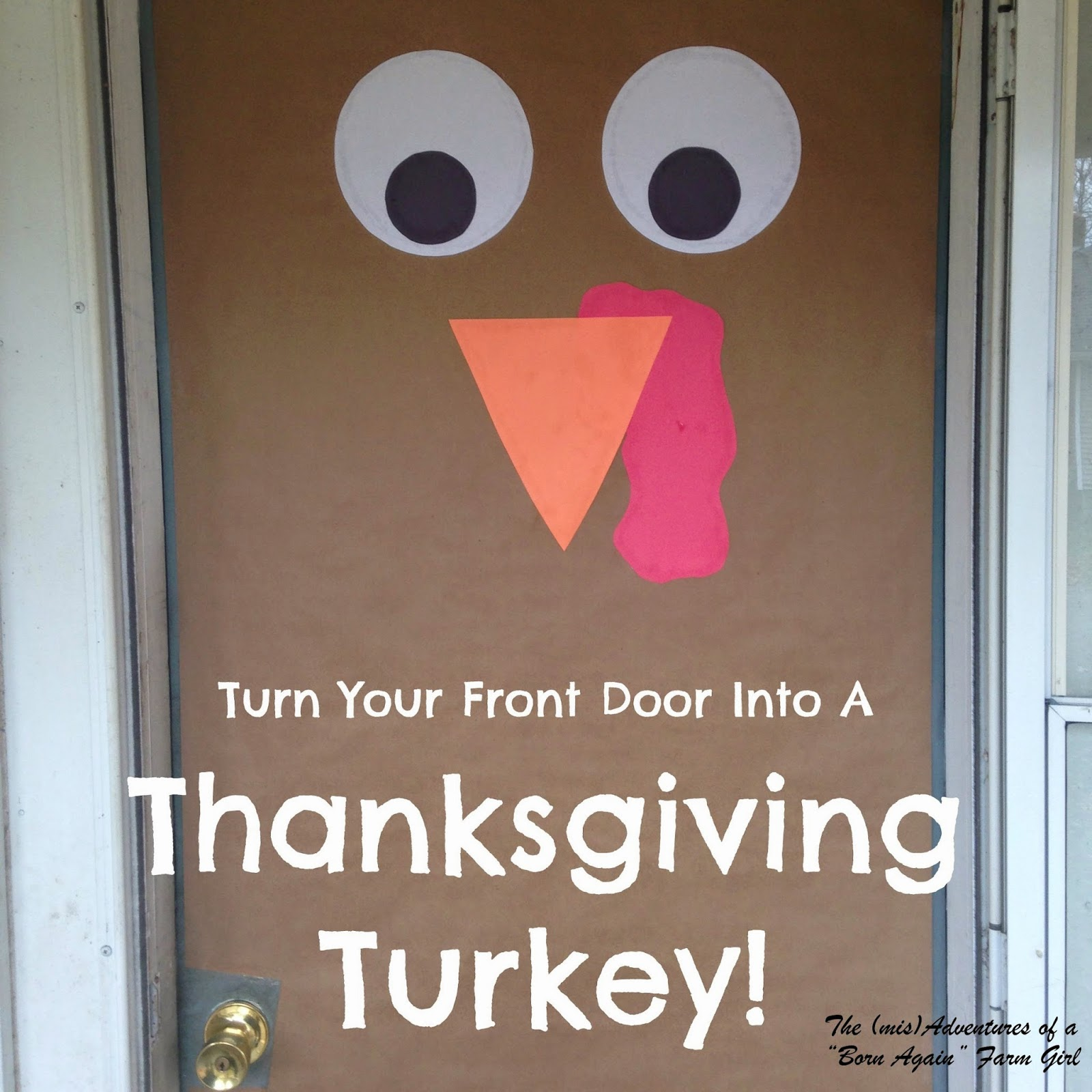 Turn Your Front Door Into A Thanksgiving Turkey!