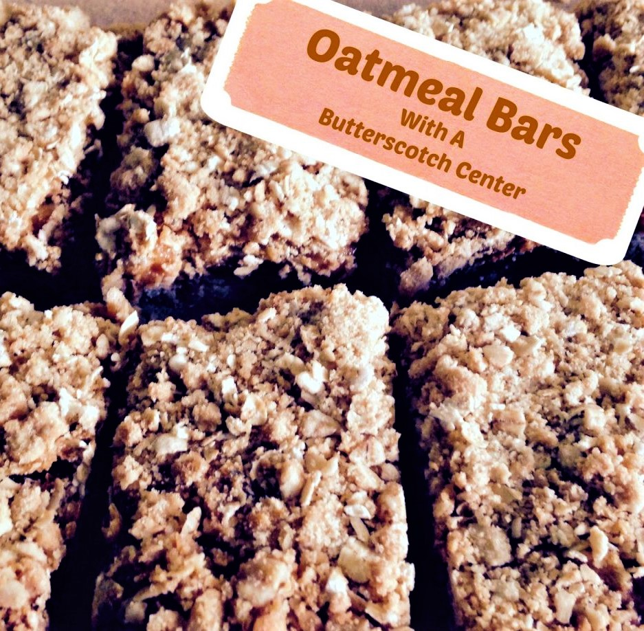 Oatmeal Bars With A Butterscotch Center