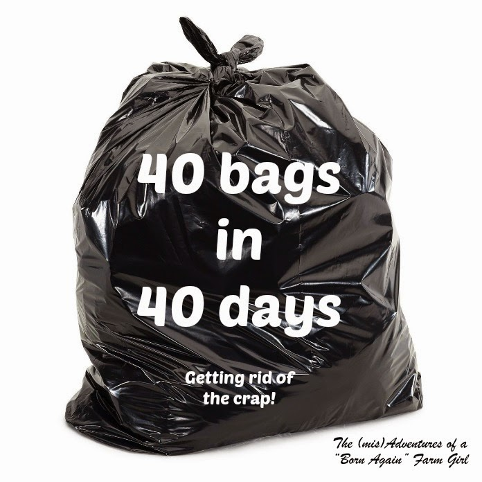 40 bags in 40 days….. Getting rid of the crap