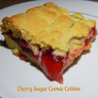 Cherry Sugar Cookie Cobbler