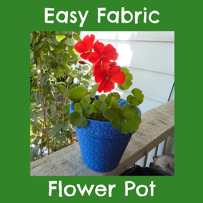 Easy Fabric Flower Pot