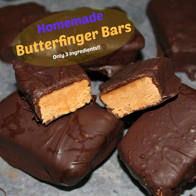 Homemade Butterfinger Bars