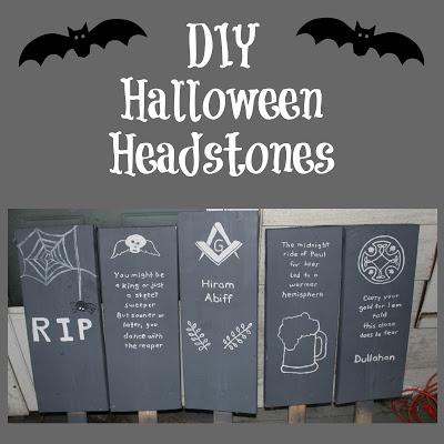 DIY Halloween Headstones