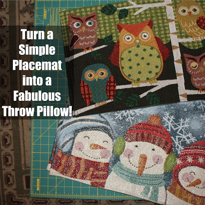Turn a Simple Placemat into a Fabulous Throw Pillow!