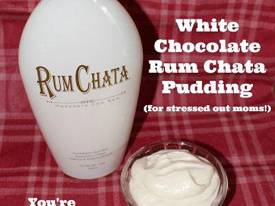 white chocolate rum chata pudding