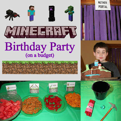 Minecraft Birthday Party (on a budget)