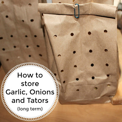 How to store Garlic, Onions and Tators (long term)