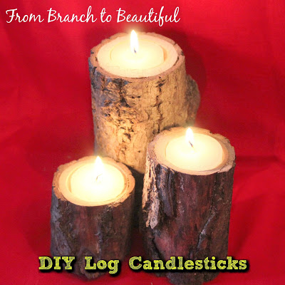 DIY Log Candlesticks