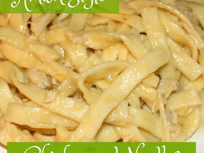 Amish Style Chicken and Noodles Recipe
