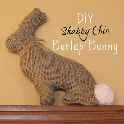 DIY Shabby Chic Burlap Bunny