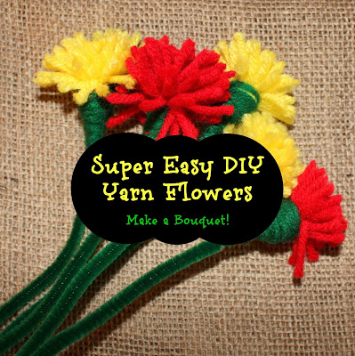Super Easy DIY Yarn Flowers – Make a Bouquet!