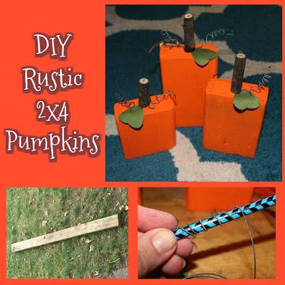 DIY Rustic 2×4 Pumpkins