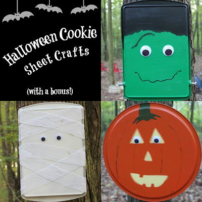 Halloween Cookie Sheet Crafts (with a bonus!)