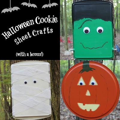Halloween Cookie Sheet Crafts (with a bonus!)