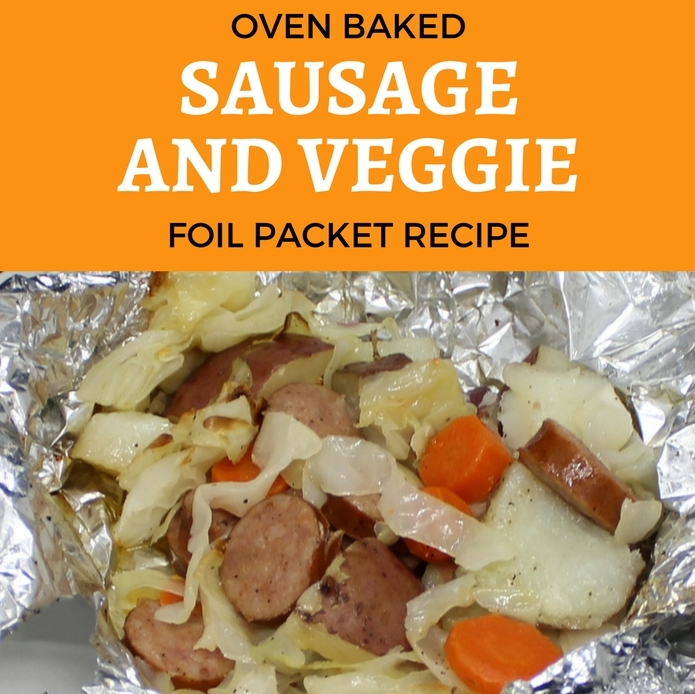 oven baked sausage and veggie foil packet recipe