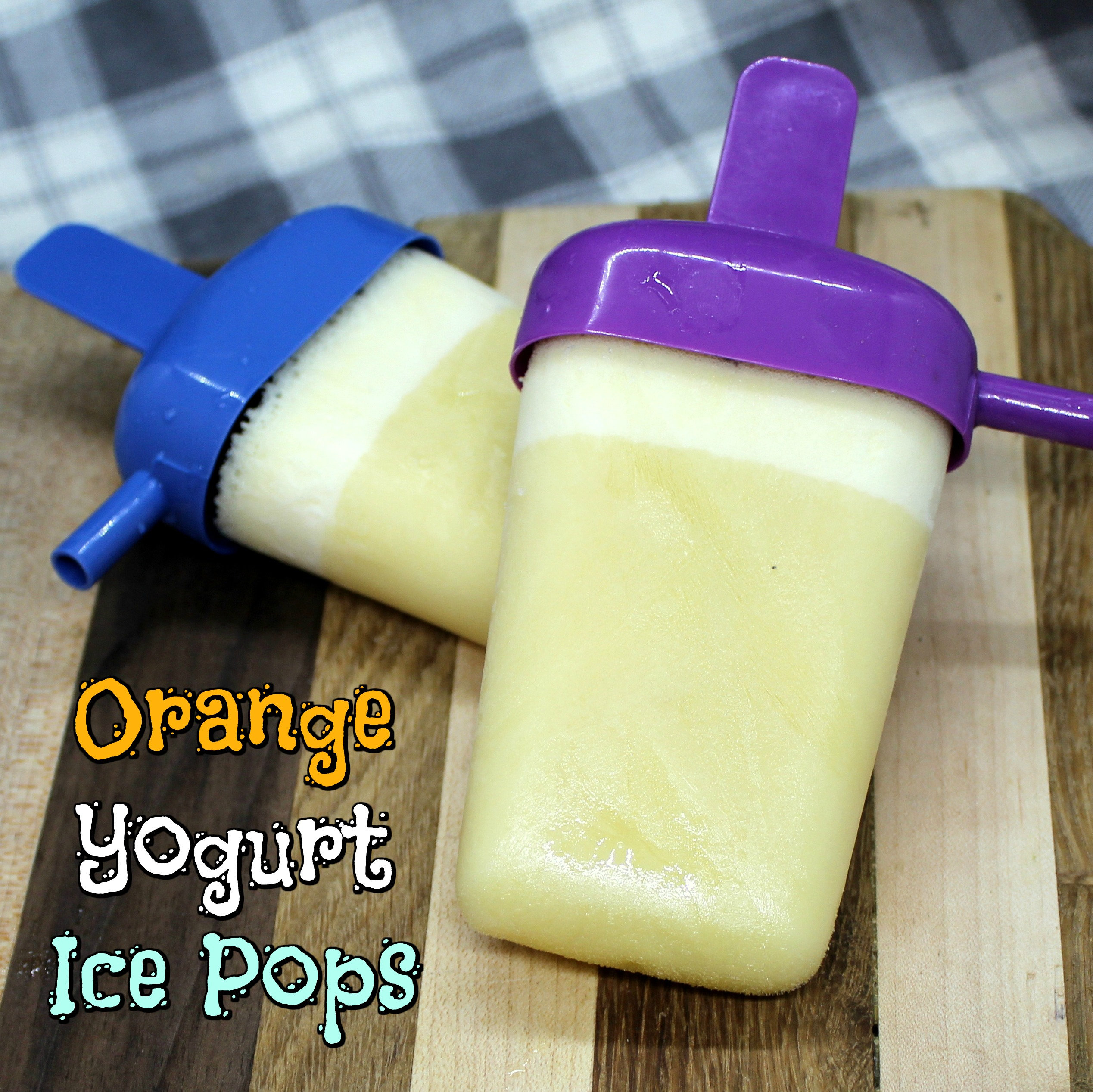 Orange Yogurt Ice Pops