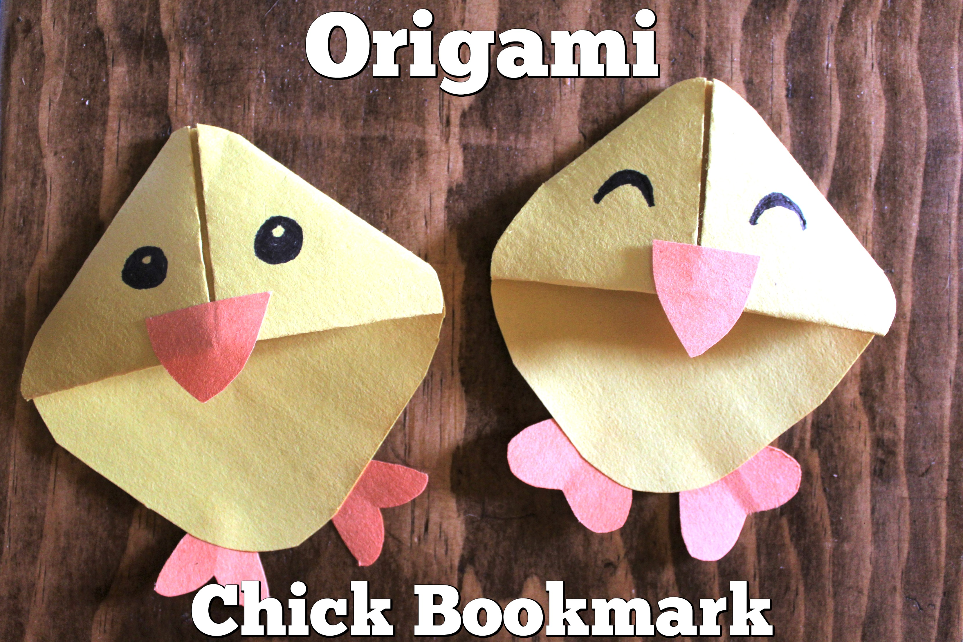 Origami Chick Bookmark